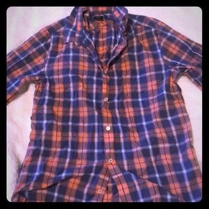 Men's button up shirt.
